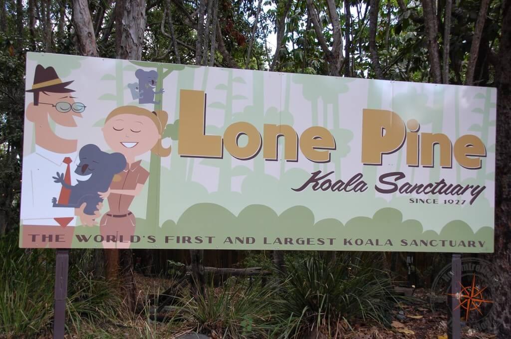Lone Pine Koala Sanctuary Sign