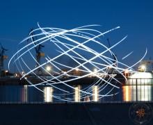 lichtmalerei Hamburg Hafen, Landungsbrücken