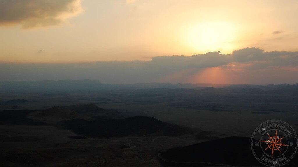 Israel Maktesh Ramon-Krater Sonnenaufgang