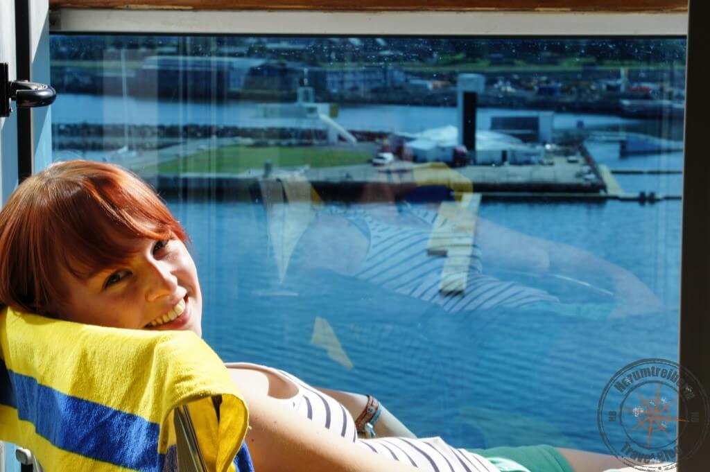Entspannen auf dem privaten Balkon