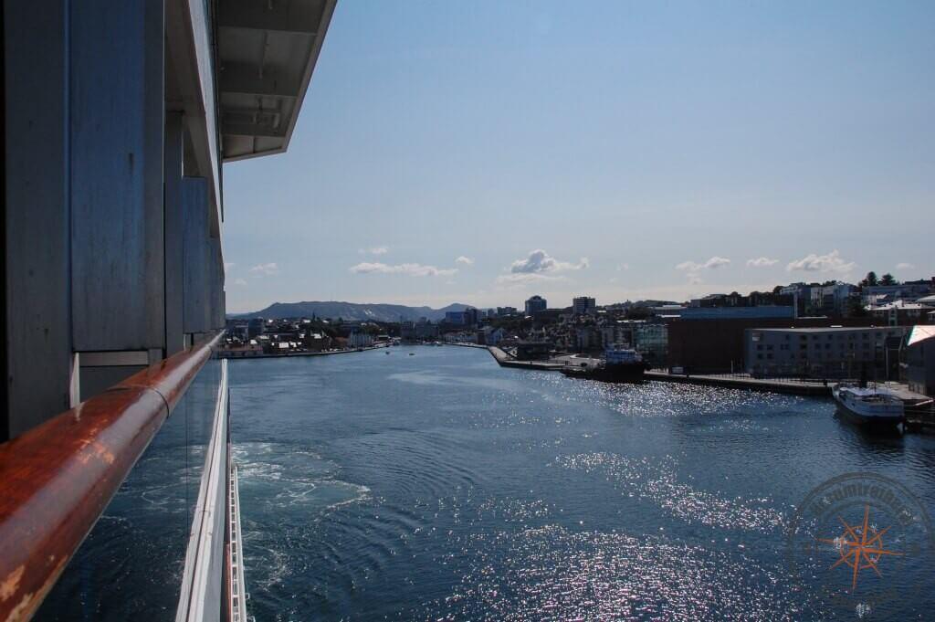 Blick von der Costa Fortuna zurück auf Stavanger
