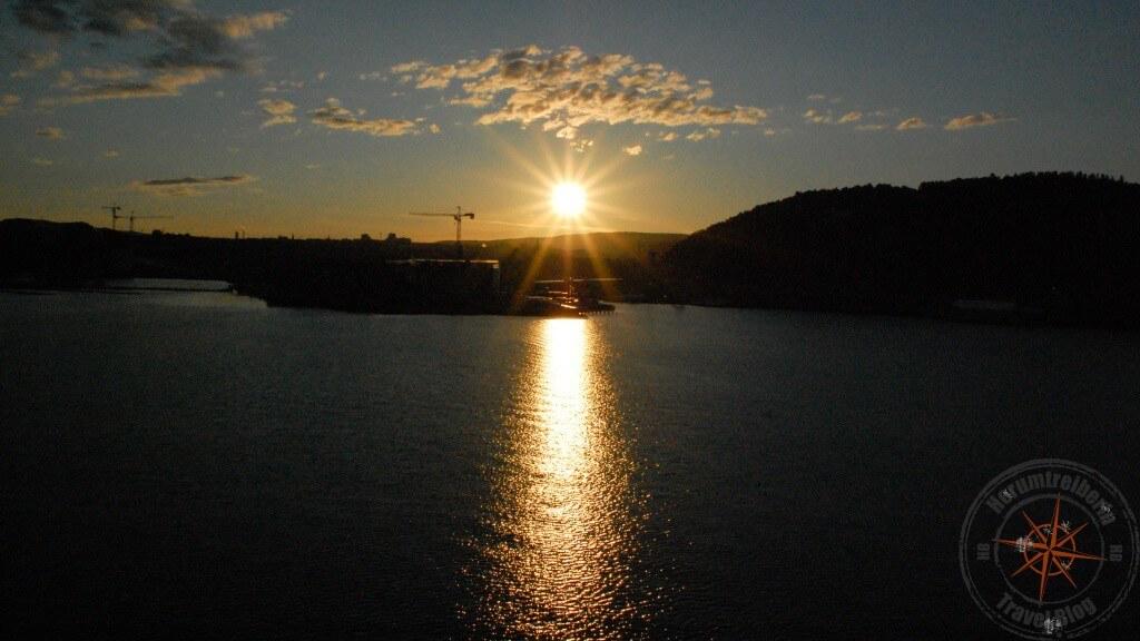 Sonnenaufgang über Oslo