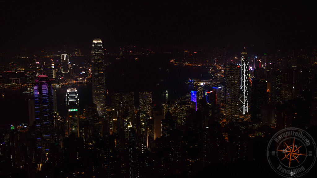 Hong Kong Victoria Peak Panorama at night