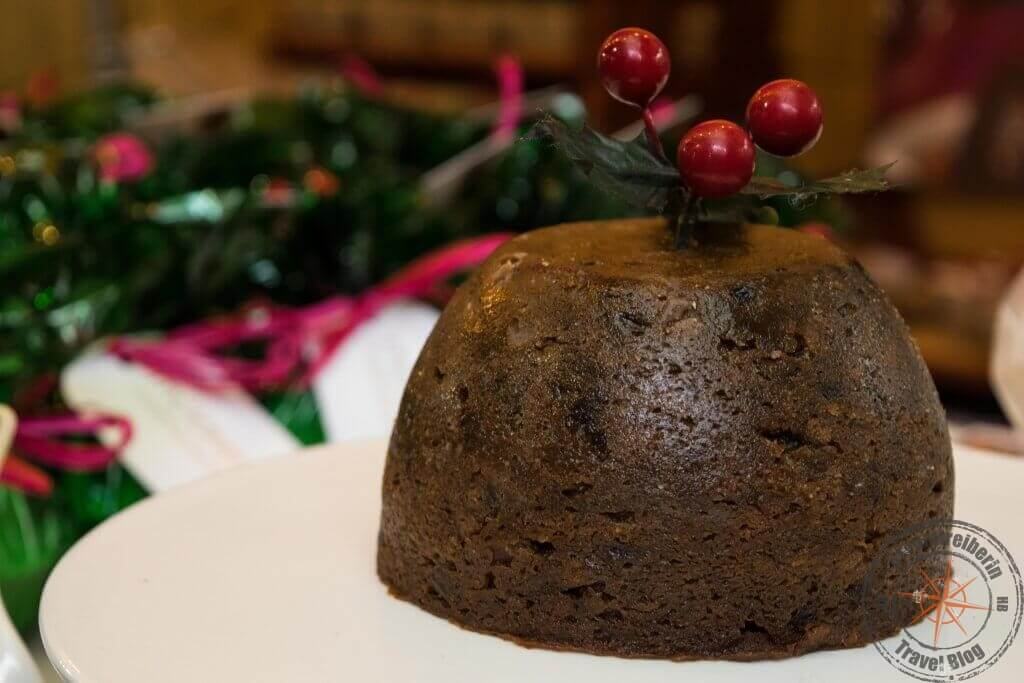 Christmas Pudding auf dem Borough Market, London