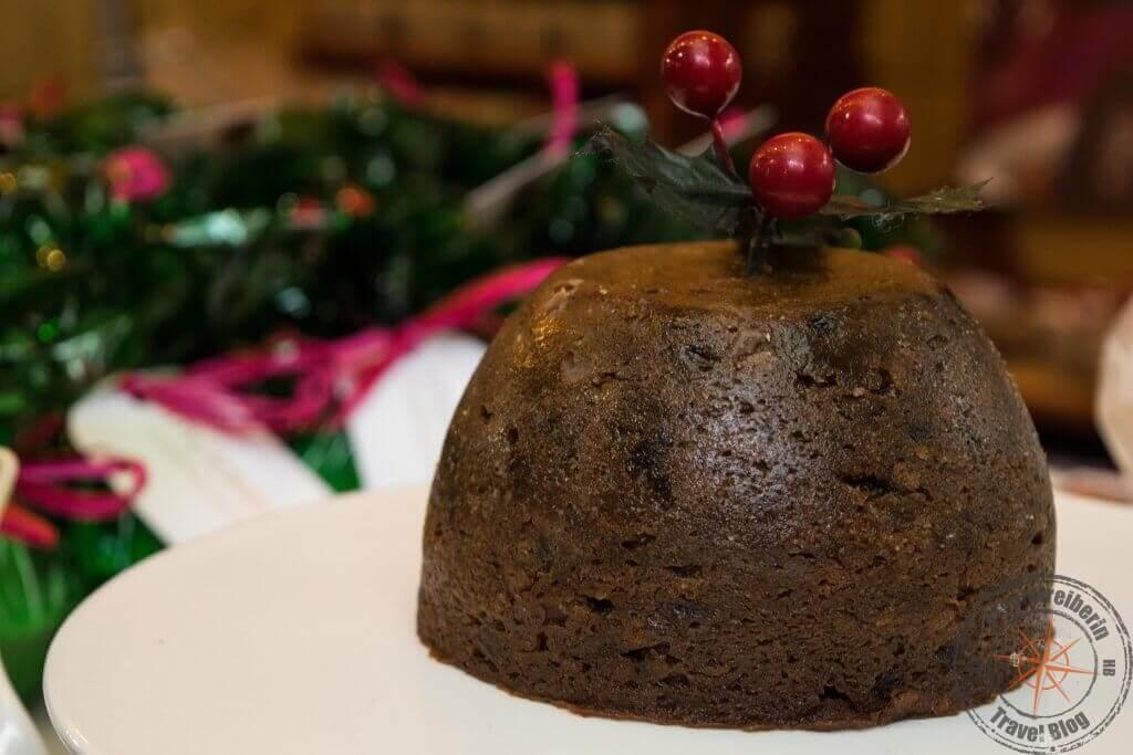 Christmas Pudding auf dem Borough Market, London
