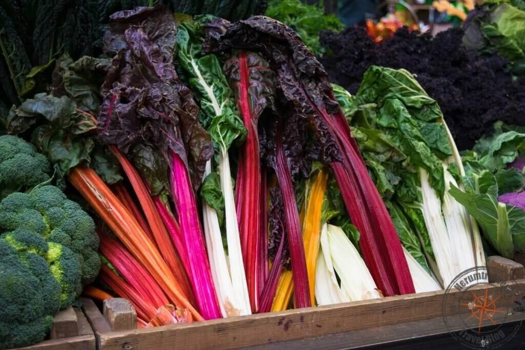 Gemüse auf dem Borough Market, London