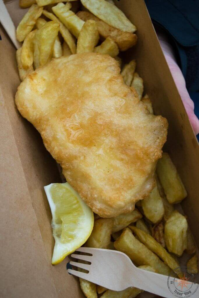 Fish & Chips auf dem Borough Market, London